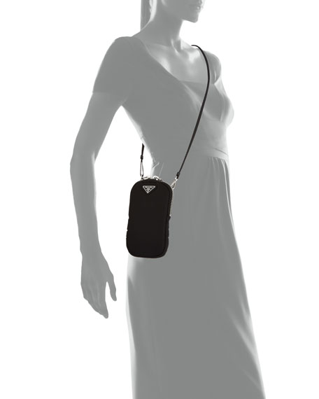 Prada Nylon Cargo Mini Bag w/ Top Handle & Removable Strap
