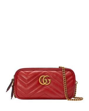 fa4c6194891b Gucci GG Marmont Mini Zip-Top Camera Case Bag