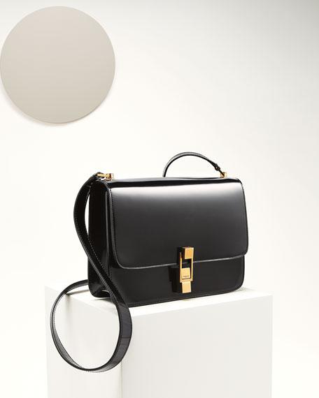 Saint Laurent Carre Smooth Leather Crossbody Bag