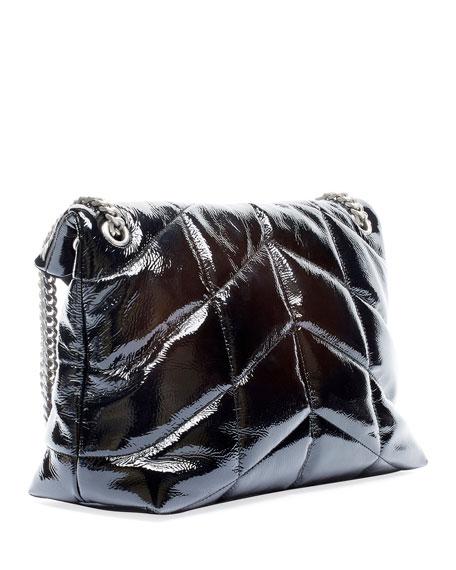Saint Laurent Loulou Medium YSL Shiny Puffer Shoulder Bag