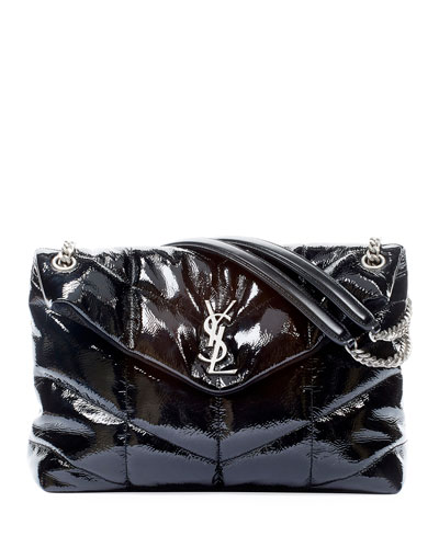 Loulou Medium YSL Shiny Puffer Shoulder Bag