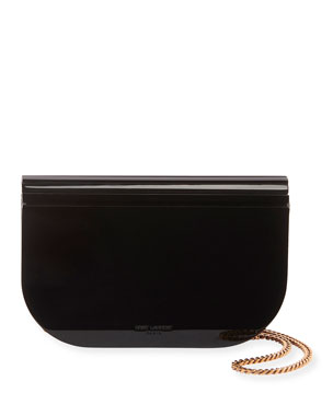 5658cb051be Saint Laurent Evening Curved Resin Crossbody Bag