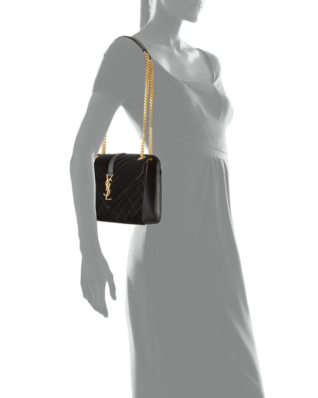 Saint Laurent Medium YSL Tri-Quilt V Flap Shoulder Bag