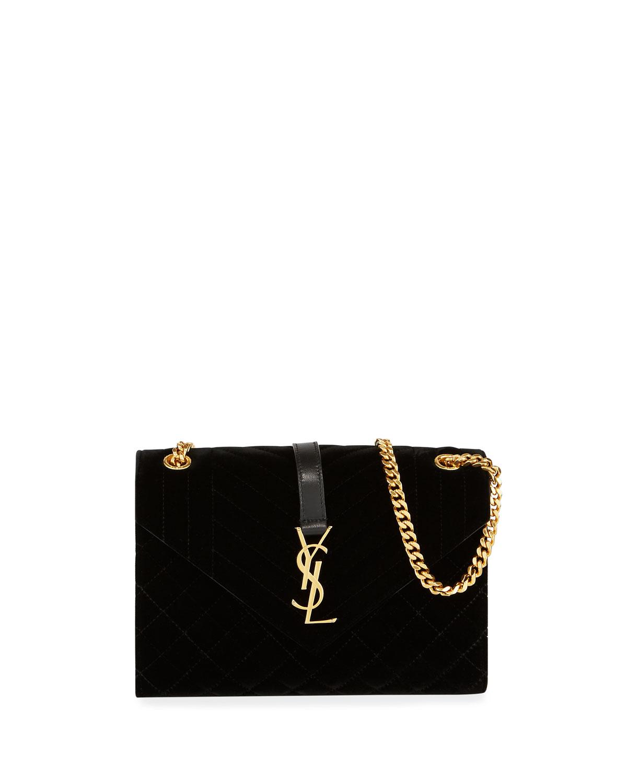 40d9fd806da Saint Laurent Medium YSL Tri-Quilt V Flap Shoulder Bag | Neiman Marcus
