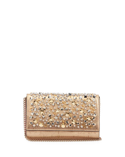 Paloma Liege Pepite Spikes Cork Clutch Bag