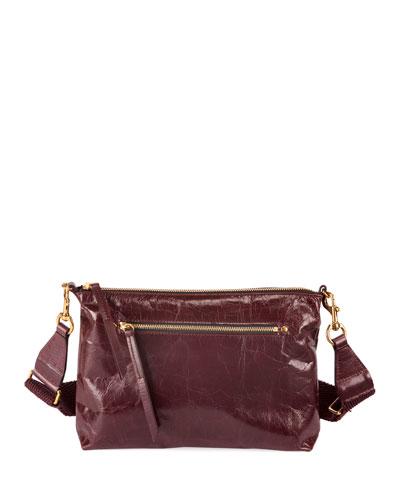 Nessah New Distressed Leather Crossbody Bag