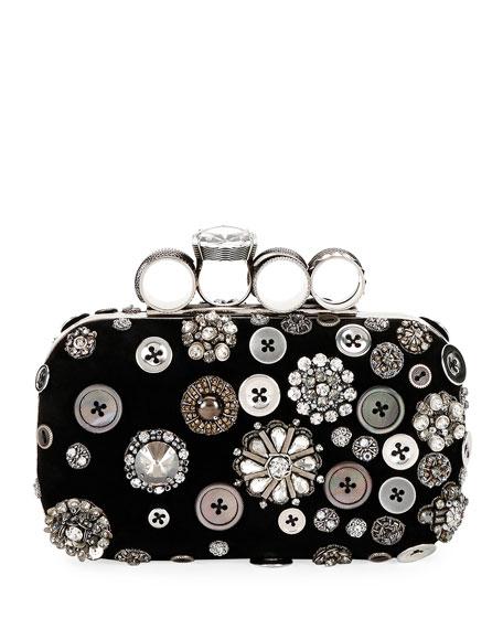 Alexander McQueen Allover Button-Embellished Clutch Bag
