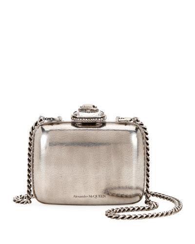 Metal Jeweled Clutch Bag