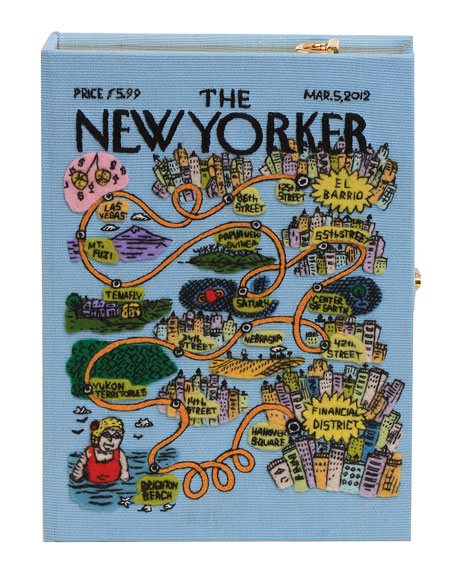 Olympia Le-Tan The New Yorker Box Clutch Bag