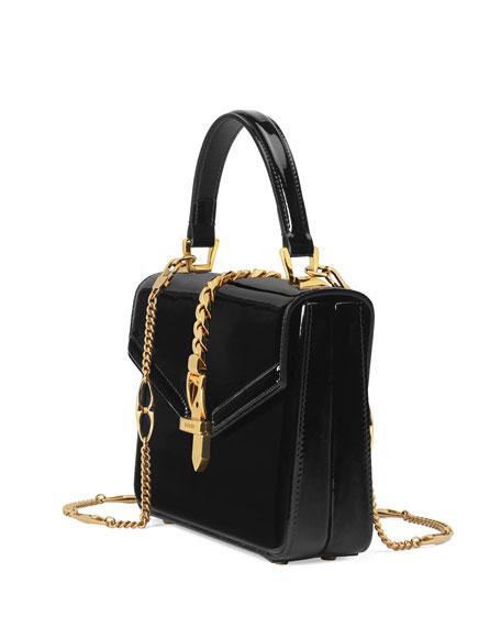 Gucci Sylvie Mini Patent Top Handle Bag