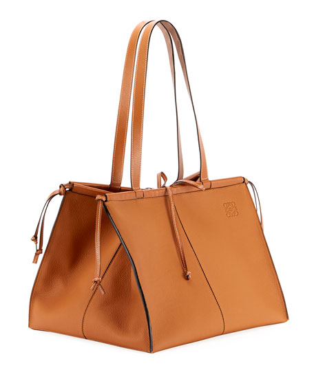 Image 2 of 3: Loewe Cushion Soft Grained Calf Leather Tote Bag