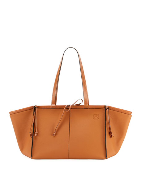Image 3 of 3: Loewe Cushion Soft Grained Calf Leather Tote Bag