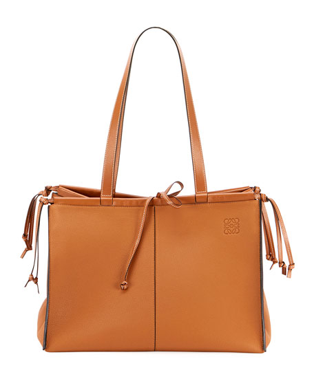 Image 1 of 3: Loewe Cushion Soft Grained Calf Leather Tote Bag