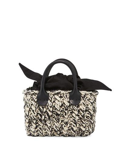Panier Rib Mini Mix Hand-Knit Top-Handle Bag
