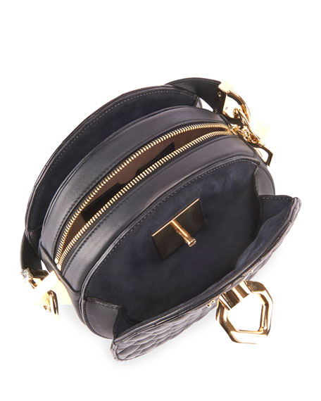 Balmain Twist Quilted Lambskin Crossbody Bag