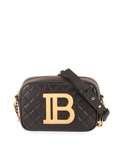 B Quilted Crossbody Camera Case Bag
