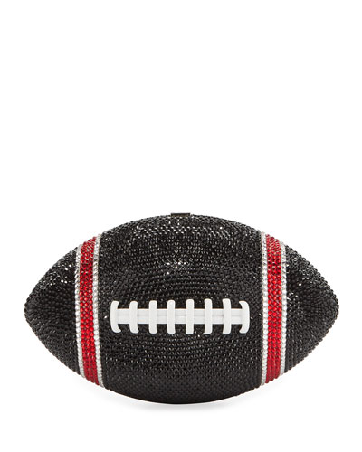 Game Ball Football Crystal Clutch Bag  Black/Red