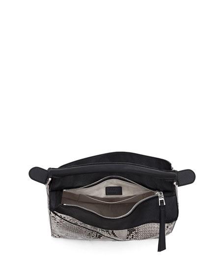 Loewe Puzzle Python Shoulder Bag