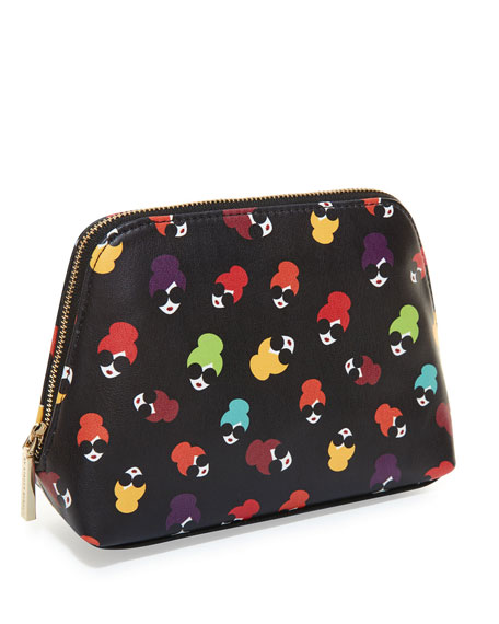 Alice + Olivia Nikki Printed Cosmetics Case Bag