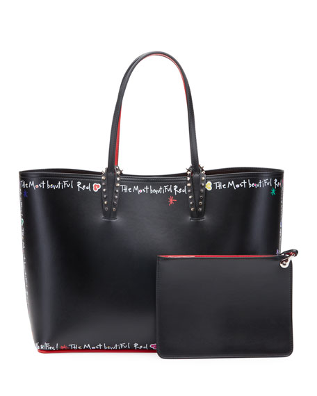 Christian Louboutin Cabata Calf P Beautiful Red Sole Tote Bag