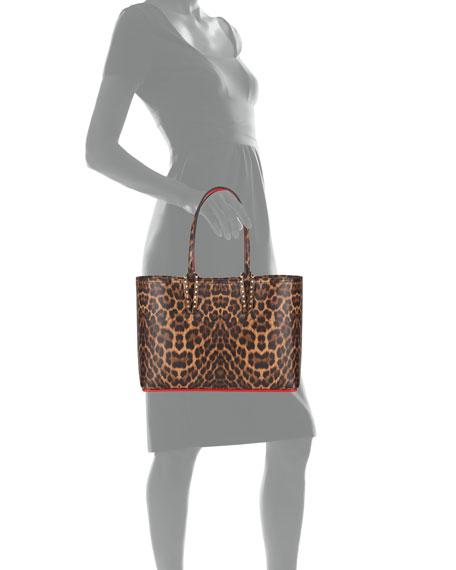Christian Louboutin Cabata Small Leopard-Print Tote Bag