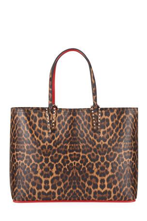 Christian Louboutin Cabata Large Leopard-Print Tote Bag