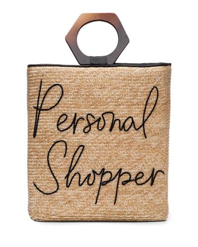 Personal Shopper Straw Tote Bag