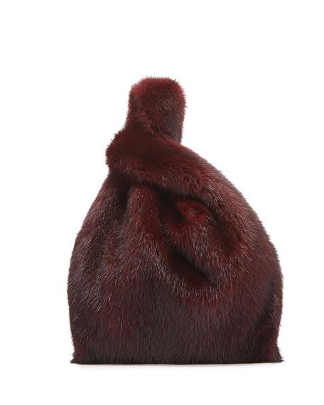 Image 1 of 3: Furrissima Baby Mink Fur Shopper Tote Bag, Magenta