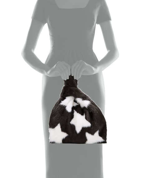 Simonetta Ravizza Furrissima Star Mink Fur Shopper Tote Bag