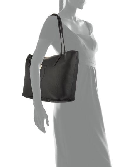Salvatore Ferragamo Medium City Leather Shoulder Tote Bag