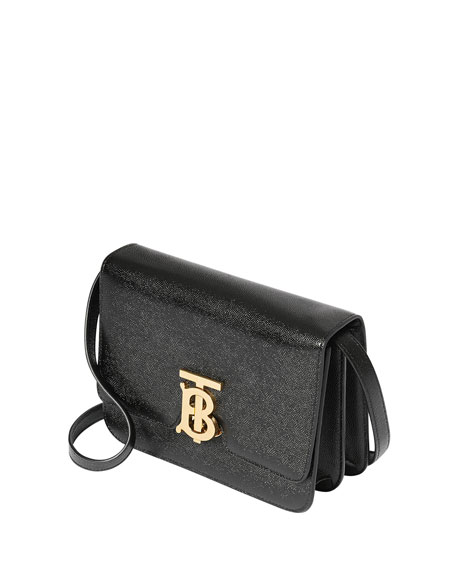 Image 4 of 4: Burberry Grainy Caviar Small Crossbody Bag