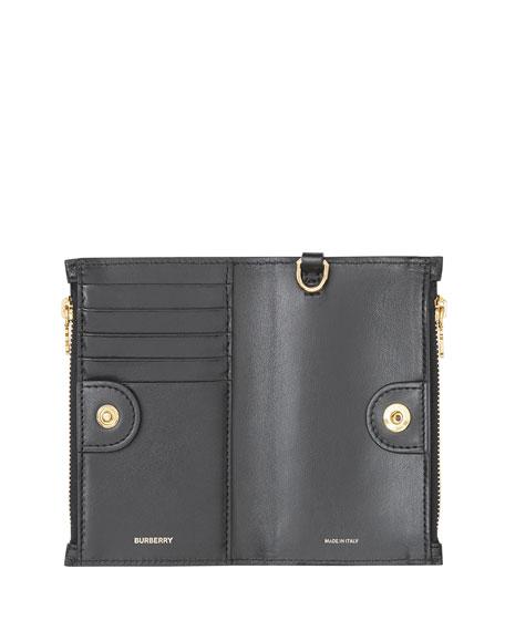 Burberry Leslie TB Grainy Wallet, Black