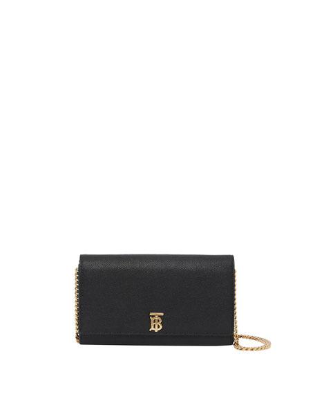 Burberry Hannah Grainy Crossbody Bag, Black