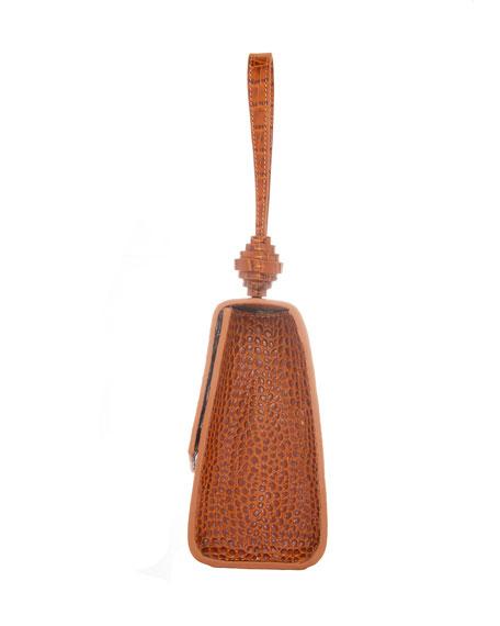 Rafe Vania Embossed Leather Wristlet Clutch Bag