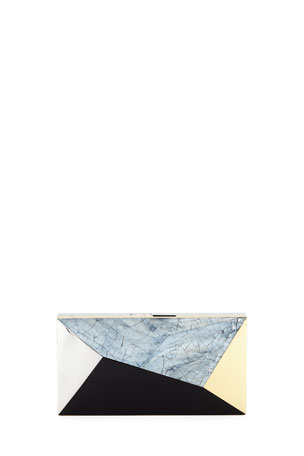 Rafe Melissa Rectangular Shell Minaudiere Clutch Bag
