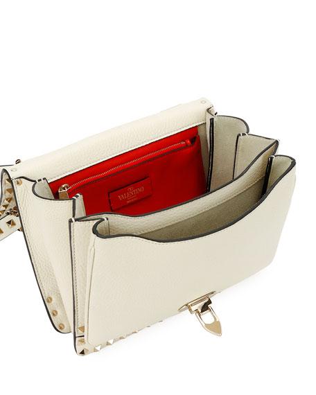 Valentino Garavani Rockstud Vitello Alce Box Shoulder Bag