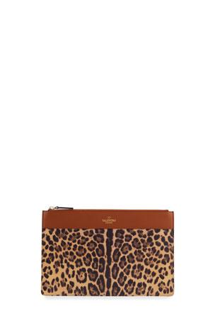 Valentino Garavani City Safari Leopard-Print Zip Wallet
