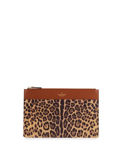 City Safari Leopard-Print Zip Wallet