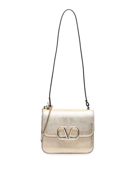 Valentino Garavani VSLING Small Snakeskin Shoulder Bag