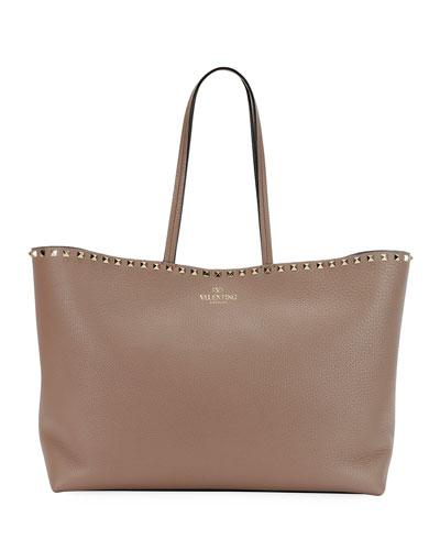 Rockstud Vitello Leather Tote Bag