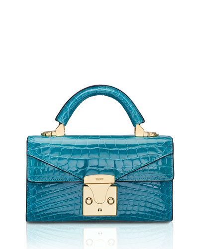 Mini Crocodile Top-Handle Bag