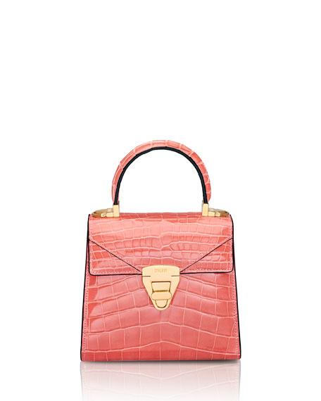 STALVEY Mini Trapezoid Crocodile Top-Handle Bag