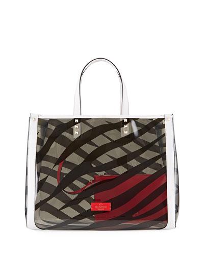 Zebra Grande Plage Polymeric Tote Bag