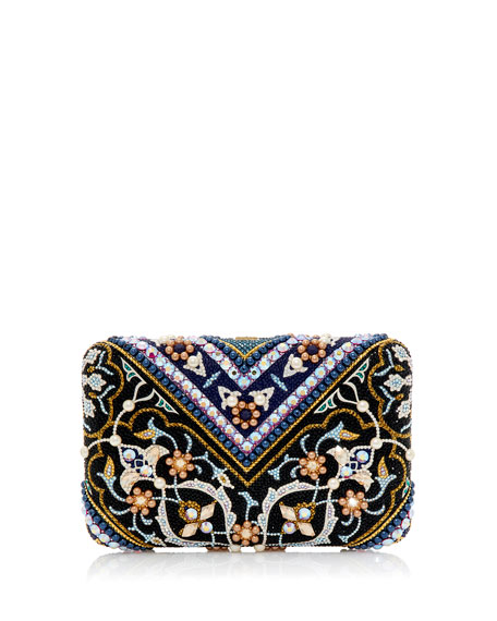 Judith Leiber Couture Seamless Tabriz Box Clutch Bag