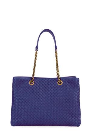 NEW BLUE SHOULDER BAG BLUE DESIGNER STYLE HANDBAG SNAKESKIN EFFECT BLACK PATENT