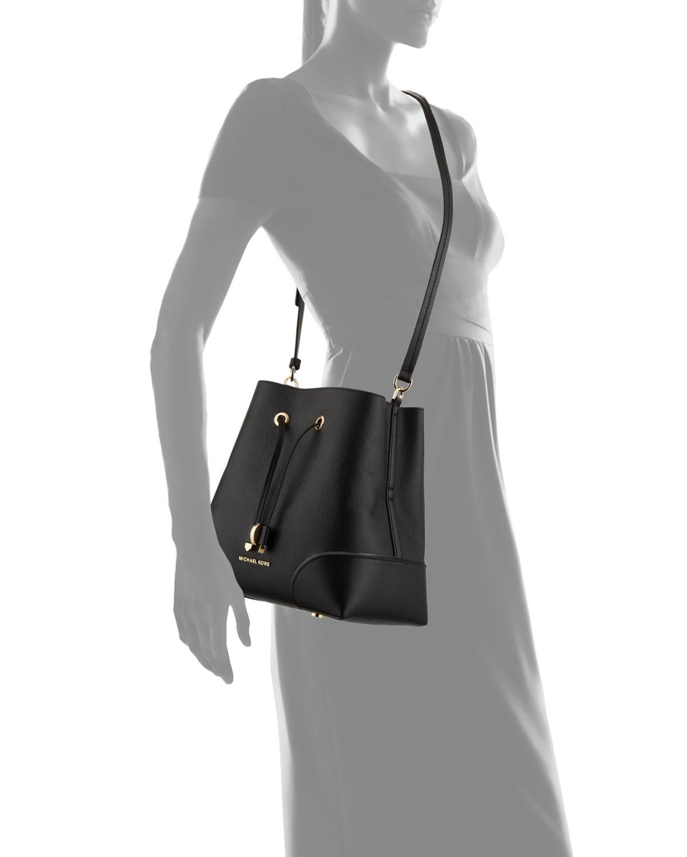 Michael Michael Kors Flat Crossbody Bag In Black
