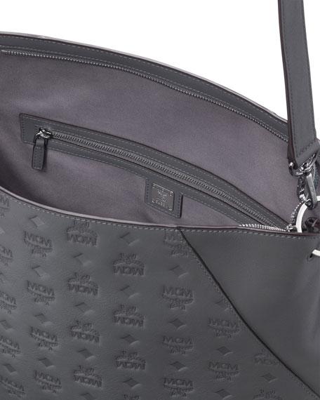 MCM Klara Large Monogrammed Leather Hobo Bag