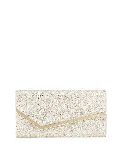 Erica Infinity Glitter Fabric Clutch Bag
