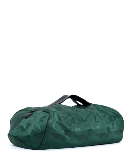 Transience Camo Zip-Top Gym Duffel Bag