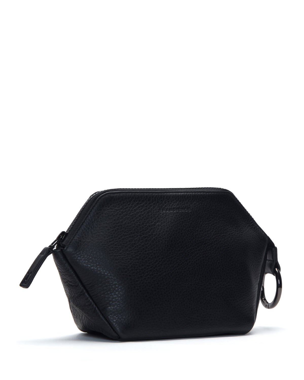 Transience Zip-Top Leather Cosmetics Bag